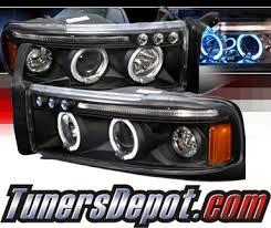 halo headlights for dodge ram 1500 spec d halo led projector headlights black 94 01 dodge ram 1500