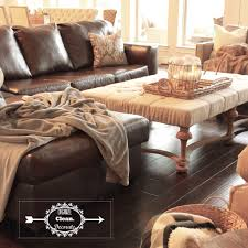 neutral living room with brown grey gray cream beige linen tufted