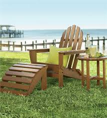 Adirondack Chair With Ottoman Poly Wood Outdoor Adirondack Chair Chairs Plow Hearth