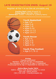 Ymca Of South Florida Fall 2017 Sports Postcard Updated Page 2 Ymca
