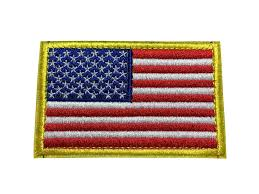 Blue White Red White Blue Flag Red White Blue Tactical American Usa Flag Patch Embroidered