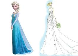 elsa wedding dress look at elsa inspired wedding gown from alfred angelo