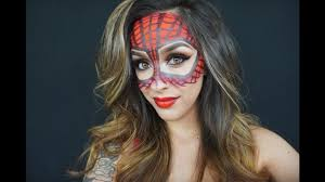 spiderwoman halloween make up tutorial youtube