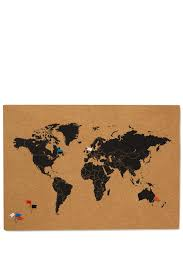 what a corker pin board typo world map set