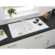 Astracast Dart  Bowl Composite Sink Opal White CVRWHOMESK - White composite kitchen sinks