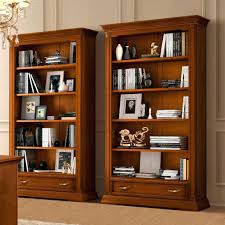 Cherry Wood Bookcase With Doors Bookcase Cherry Zivile Info