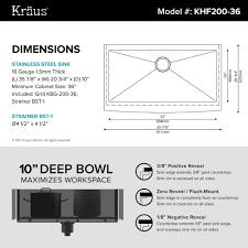 Kitchen Cabinet Measurements Stainless Steel Kitchen Sinks Kraususa Com