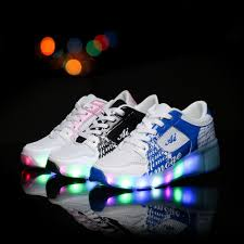 heelys light up shoes kids shoes with wheels led light up glowing sneakers children roller