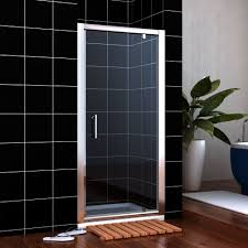 760mm pivot hinge shower door 6mm safety glass reversible shower