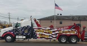 American Flag On Truck Flag City Towing Inc Wrecker Service Recovery Towing