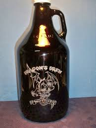 etched glass vase personalized 64 oz dragon growler custom homebrew growler