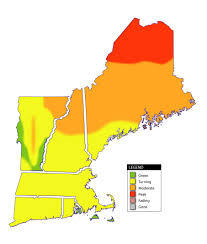 New England Map by New England Fall Foliage Report And Foliage Map Travel New England