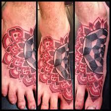 mandala foot tattoo best tattoo ideas gallery