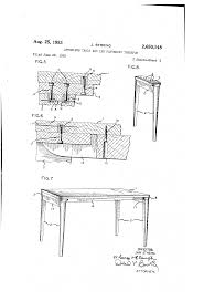 Wooden Table Surface Perspective Png Patent Us2650148 Apronless Table And Leg Fastening Therefor