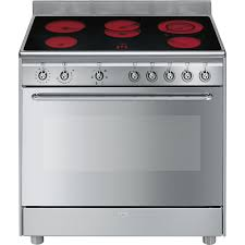Harvey Norman Ovens And Cooktops Smeg Stainless Steel 90cm Freestanding Ceramic Hob Cooker Harvey