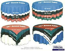 tablecloths rental des moines rental linen table cloth chart for tables