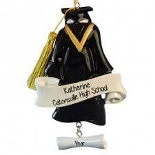 graduation cap gown dangling diploma ornament personalized