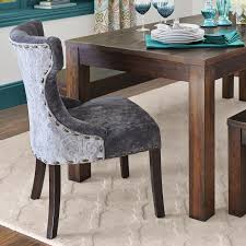 Pier 1 Ronan by Hourglass Gray Damask Dining Chair With Espresso Wood Pier 1 Imports
