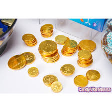 hannukah candy hanukkah gelt gold foiled milk chocolate coins 1 ounce mesh bags