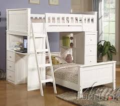 Willoughby White Loft Twin Bunk Bed All American Furniture Buy - Twin loft bunk bed