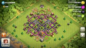 layout coc town hall level 7 best town hall 7 base design clash of clans hallway design ideas