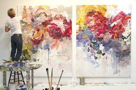 abstract flower painting fl paintings burgers wallpaper abstract flower painting