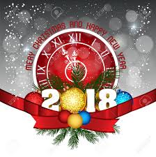 happy new year post card postcard happy new year 2018 and merry christmas royalty free