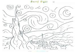 coloring page for van vincent van gogh coloring pages van coloring pages van coloring