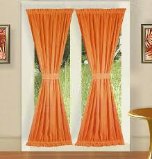 Curtains For Interior French Doors Orange French Door Curtains