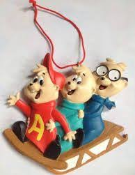 alvin and the chipmunks ornament flocked chipettes