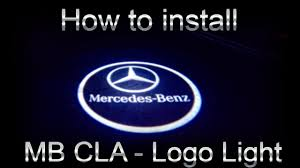 mercedes cla logo light install youtube