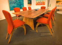 Orange Parsons Chair Orange Dining Room Chairs Provide Comfort And Warmth Of Your