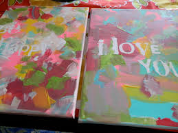 painted canvas fun family crafts