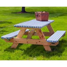Elasticized Picnic Table Cover Set Never Worry About The Table