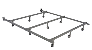 Bed Frame Casters Greenhome123 9 Leg Metal Bed Frames With Heavy Duty Rug Roller