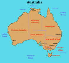 states australia map map of australia with states territories and capital cities