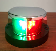 Boat Navigation Lights Marine Boat Led Navigation Light Red Green Chrome Plated Zinc Ip66