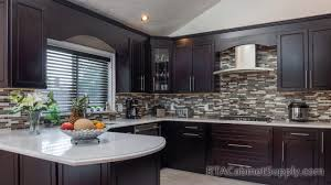 espresso kitchen cabinets with white countertops modern espresso pre assembled kitchen cabinets