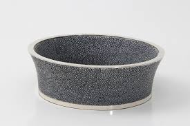 Unique Coasters Wine Coaster Charcoal Shagreen Forwood Design