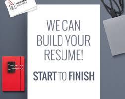 Resume Maker Resume Builder Etsy