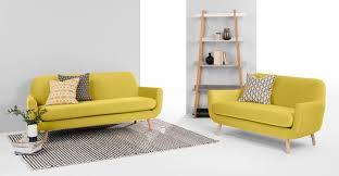 3 sitzer sofa jonah 3 sitzer sofa samt in gelb made com