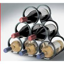 vacuvin stainless steel modular wine rack