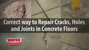 Concrete Floor Repair Concrete Floor Repair By Watco Youtube