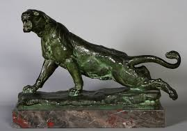 lioness sculpture lioness of charles valton 19th bronze signed 21kg and 47cm