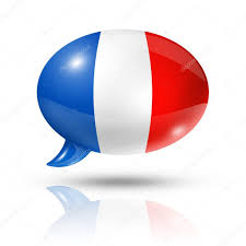 Frenxh Flag French Flag Speech Bubble U2014 Stock Photo Daboost 13461441
