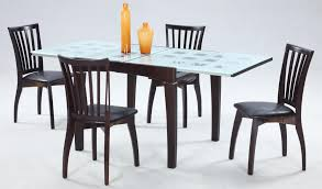 Expandable Glass Dining Room Tables Furniture Ch Janet Marble Table Set Model Homes Interiors Furnitures