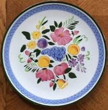 stangl pottery fruit and flowers vintage stangl pottery fruit and flowers 12 3 8 painted chop