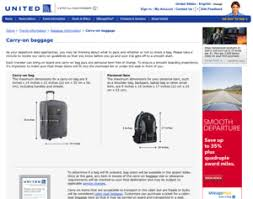 united airlines carry on baggage carry on bag policy united