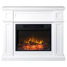Electric Fireplace With Mantel 41