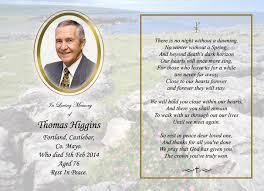 memorial card memorial cards heverin print castlebar